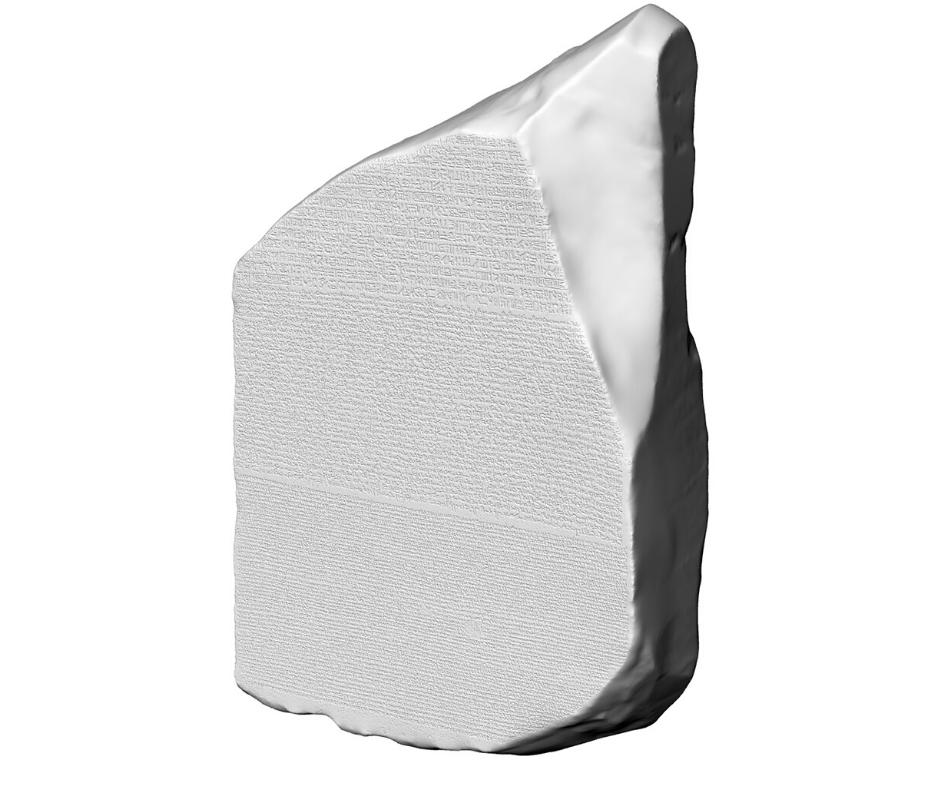 stele di rosetta stampa 3d