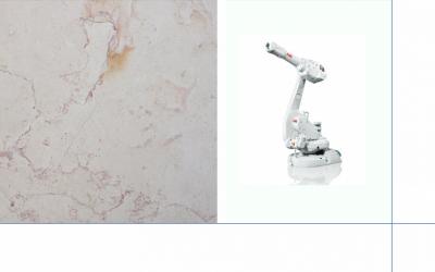 Il braccio robotico per il marmo di Carrara